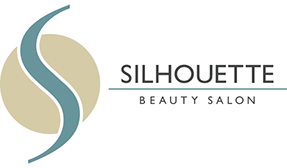 Graphic image displaying logo design for Silhouette Beauty Salon client